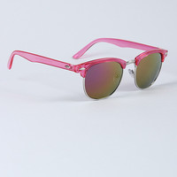Plastic Frame Pointed Sunglasses