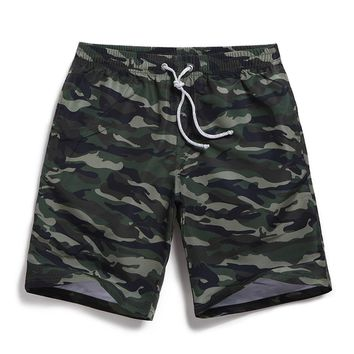 Camouflage Men's Green & Brown Casual Quick Dry Beach Board Shorts