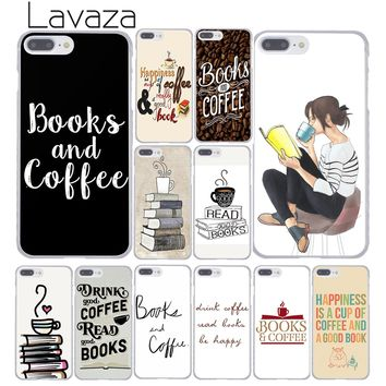 Lavaza 123F Books And Coffee Inverted Mck Print Hard Coque Shell Phone Case for Apple iPhone 8 7 6 6S Plus X 10 5 5S SE 5C 4 4S