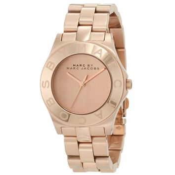 Marc by Marc Jacobs MBM3127 Women's Blade Rose Gold Tone Stainless Steel Quartz Watch