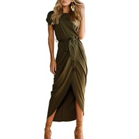 High Split Casual Long Maxi Dress For Women