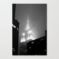 Empire State Building rain ironic black and white fine art photography travel New York City NYC wall tourism cityscape decor gifts under 50
