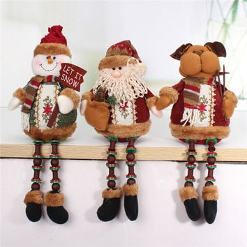 Christmas Santa Claus Snow Man Reindeer Doll Christmas Tree Hanging Ornaments