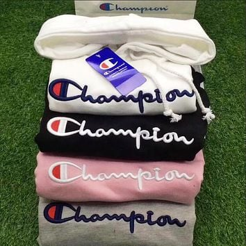 Champion Women/Men Fashion Long Sleeve Khaki Pullover Sweater Sweatshirt Hoodie