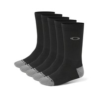 Oakley Performance Basic Crew Socks (5 Pack) in BLACK | Oakley