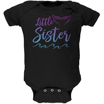 Little Sister Mermaid Tail Ocean Soft Baby One Piece