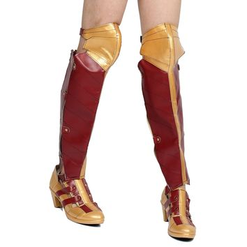 Xcoser Wonder Woman PU Leather Boots Cosplay Boots New Version Sale