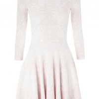 Light pink jacquard silk blend dress - Dresses - All Clothing - Women