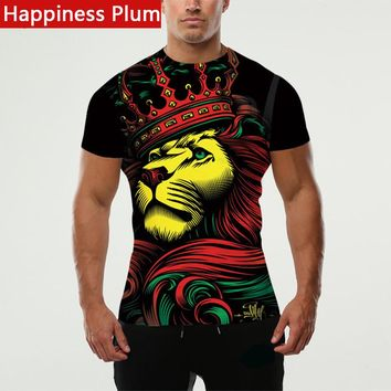 Happiness Plum Rasta Clothing Rasta T Shirt Men Shirt Lion King Tee Style 3d Printed T-shirts Anime Funny Clothes Brand Male