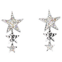 Multi Star Dangle Earring - Silver