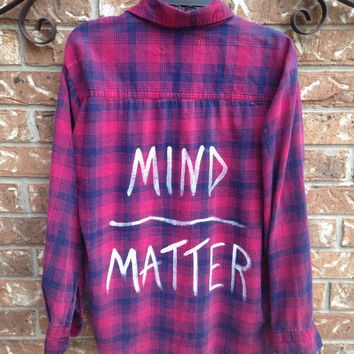 Mind Over Matter painted flannel shirt