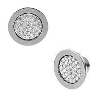 Michael Kors Pave Stud Earrings, Gray