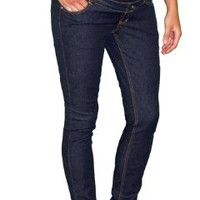Three Seasons Maternity Women's Skinny Jean, Dark Rinse, Medium