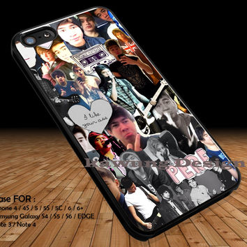 Cute Band Collage iPhone 6s 6 6s+ 5c 5s Cases Samsung Galaxy s5 s6 Edge+ NOTE 5 4 3 #music #5sos DOP2134