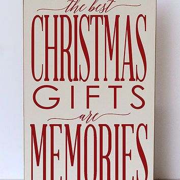 Vinyl Crafts Cream & Red The Best Christmas Gifts Are Memories Wall Sign | zulily