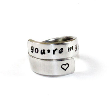 You're My Person Ring, Grey's Anatomy Inspired Ring, Love And Friendship Ring, Couple And Best Friends Gift