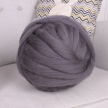 Giant yarn, Merino wool yarn, Super bulky yarn, Chunky yarn, Merino wool roving, Wool roving, Super chunky yarn, Merino wool, Roving, Gift