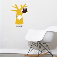 Tree Wall Clock - Tree O'clock Wall Clock Decal - 4make - CoolWallArt