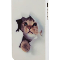 ModCloth Travel Peek-a-Mew iPhone 4, 4S Case