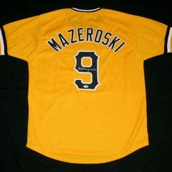 MDIGON Bill Mazeroski Signed Autographed Pittsburgh Pirates Baseball Jersey (JSA COA)