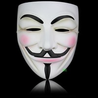 Halloween Masquerade V For Vendetta Mask Full Face Movie Guy Fawkes Theme Anonymous Resin Masks Party Props Costume Adult Size