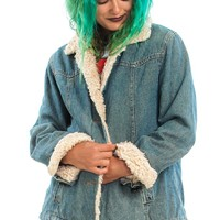 Vintage 90's Breezy Beaches Denim Jacket - XS/S/M