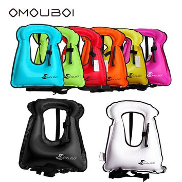 OMOUBOI Water Sports Safety Life Vest Light Weight Floating Rescue Jacket Durable Inflatable Swimming Survival Vest For Adult