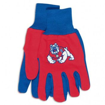 Fresno State Bulldogs - Adult Two-Tone Sport Utility Gloves