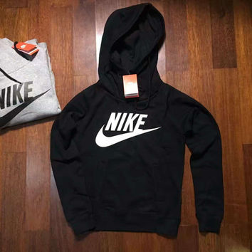 NIKE HOODIE GIRLS TOP BLOUSE JUMPER BLACK HIGH QUALITY