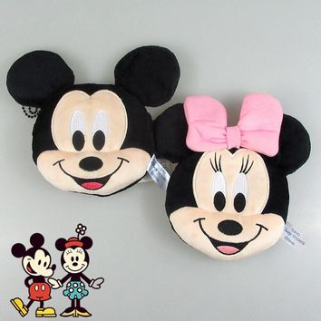 New 12cm Minnie Mickey Plush Toys for Kids Coin Purses Bag Pendant Kids Gifts