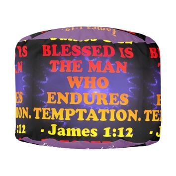 Bible verse from James 1:12. Pouf