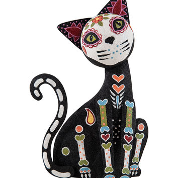 Standing Day of the Dead Cat Figurine | zulily
