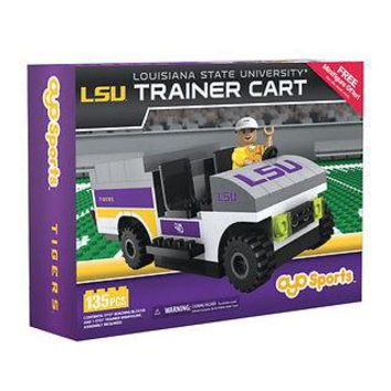 LSU TIGERS TRAINER CART 135 PCS INCLUDES 1 TRAINER MINIFIGURE OYO NEW