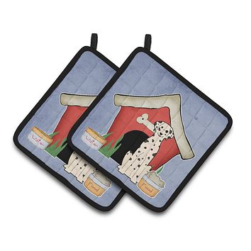 Dog House Collection Dalmatian Pair of Pot Holders