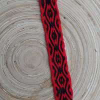Cotton braclet, weaving woven friendship bracelet, weave colorful red black wrist band, men arm band, women boho jewelry, handmade braclet