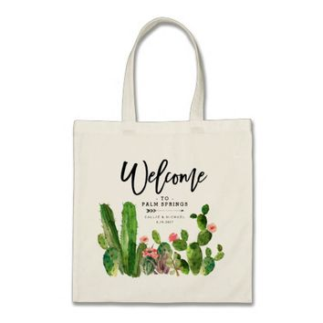 Desert Succulent Cactus Wedding Welcome Bag