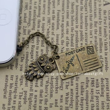 cute the harry potter owl hathaway post dustproof plug, 3.5mm, for Samsung Blackberry HTC iPhone 4/4S,iPhone 5