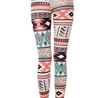 Vibrant Tribal Print Legging
