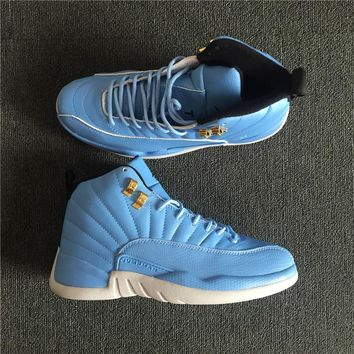 Nike Air Jordan 12 Retro Men Basketball Shoes Blue