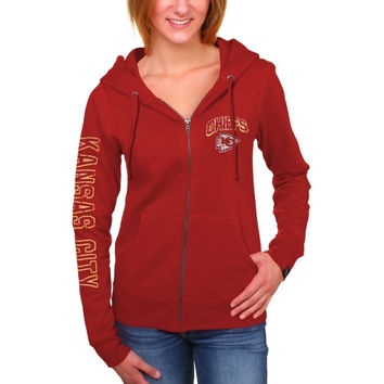 Women's Kansas City Chiefs New Era Red Core Full Zip Hoodie