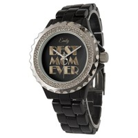 Best Mom Ever Black Gold Look Text Add Name Watch