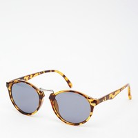 ASOS Fine Frame Round Sunglasses With High Nose Bridge