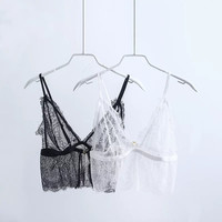 New Women Lace Bra Bustier Crop Top Bralette Strappy Crochet Cropped Tank Tops Camisole [10454786255]