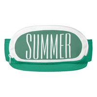 Greenish Blue Cap-Sac fanny pack for head, Summer Visors