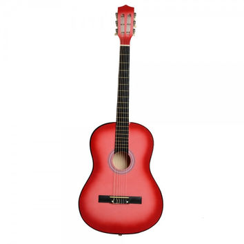 "38"" Professional Acoustic Classic Guitar Pink with Pick and String"