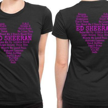 CREYP7V Ed Sheeran Quote Love 2 Sided Womens T Shirt