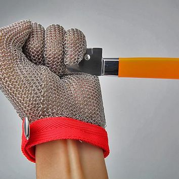 2017 New Stainless Steel Wire Mesh Cut-Resistant Gloves For Wood Carving And Meat Cutting Self Defense Personal Protection