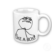 Like a Boss yeah rage comic meme Mugs from Zazzle.com