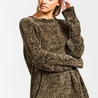 Soft Chenille Sweater - Olive