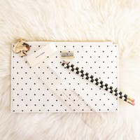 Kate Spade New York Pencil Pouch With Bridge Pencils-Pencil It In
